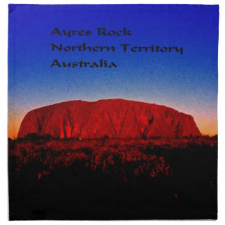 The most sacred monolith in Australian outback Cloth Napkin