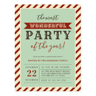 The Most Wonderful Party Of The Year Invitations