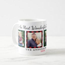 The Most Wonderful Time | Christmas Photo Coffee Mug