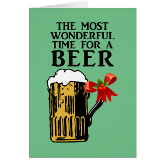 The Most Wonderful Time for a Beer Card
