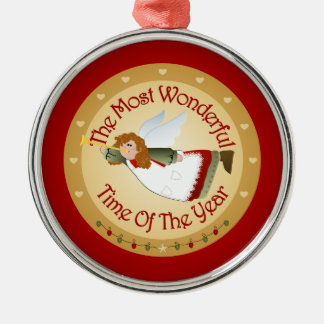 The Most Wonderful Time Metal Ornament