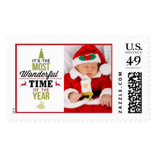 The Most Wonderful Time of the Year Add Your Photo Postage