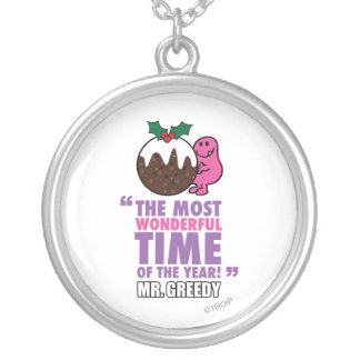 The Most Wonderful Time Round Pendant Necklace