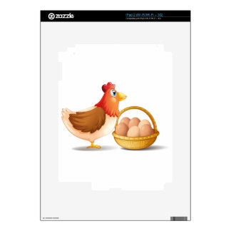 The mother hen and a basket of eggs skin for iPad 2