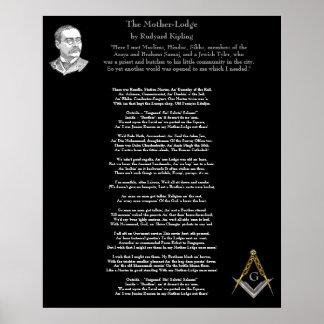 The Mother Lodge - Kipling Poster