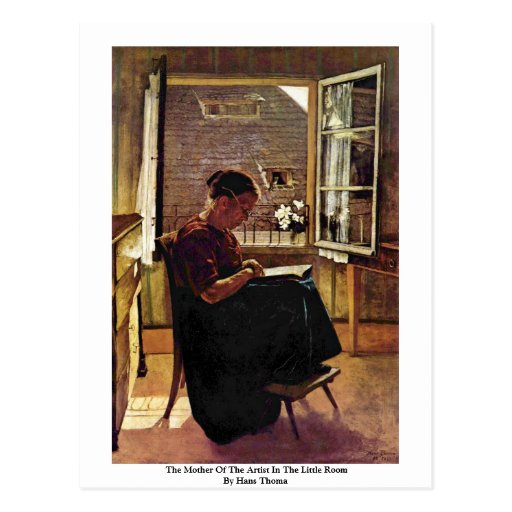 The Mother Of The Artist In The Little Room Postcards