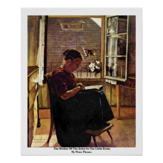 The Mother Of The Artist In The Little Room Print