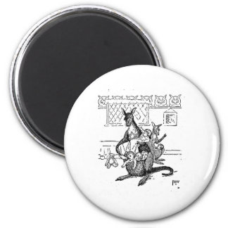 The Motherly Kangaroo 2 Inch Round Magnet