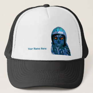 The Moto Owl by Night! (add your name or motto) Trucker Hat