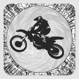 THE MOTOCROSS EFFECT SQUARE STICKER