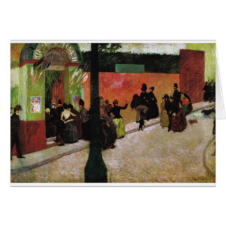 The Moulin de la Galette by Federico Zandomeneghi Card