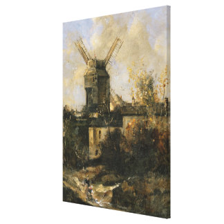 The Moulin de la Galette, Montmartre, 1861 Canvas Print