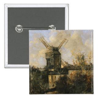 The Moulin de la Galette, Montmartre, 1861 Pinback Button