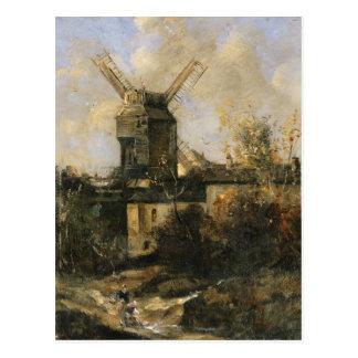 The Moulin de la Galette, Montmartre, 1861 Postcard