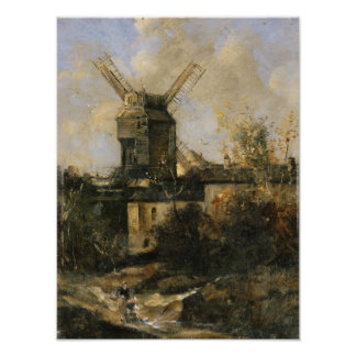The Moulin de la Galette, Montmartre, 1861 Print
