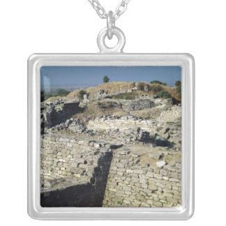 The Mound of Hissarlik, the site of Square Pendant Necklace