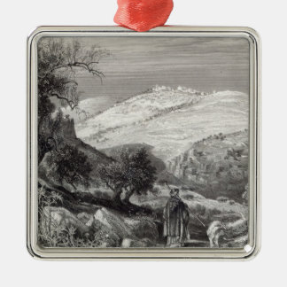 The Mount of Olives, from Mount Zion Metal Ornament