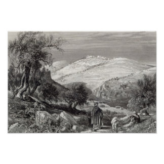 The Mount of Olives, from Mount Zion Posters