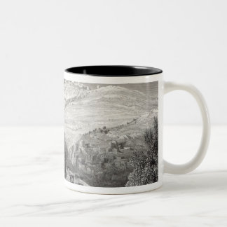 The Mount of Olives, from Mount Zion Two-Tone Coffee Mug