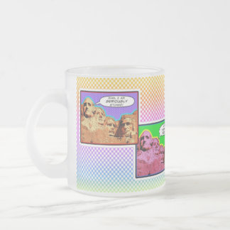 The Mount Rushmore Heads Humor on Cups & Mugs