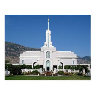 The Mount Timpanogos Utah LDS Temple Postcard