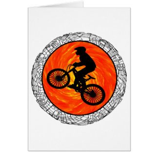 THE MOUNTAIN BIKERS GREETING CARD