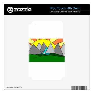 The Mountain Shine Falls Decal For iPod Touch 4G