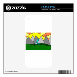 The Mountain Shine Falls Decal For The iPhone 4S