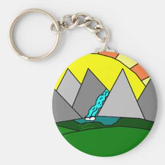 The Mountain Shine Falls Keychains