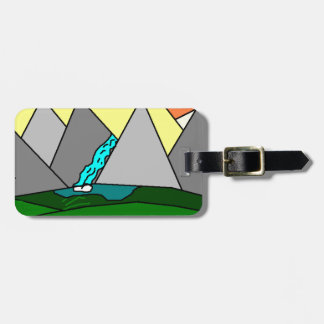The Mountain Shine Falls Luggage Tag