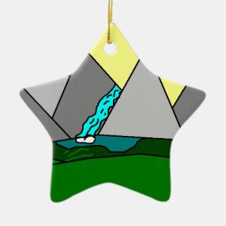 The Mountain Shine Falls Ornaments