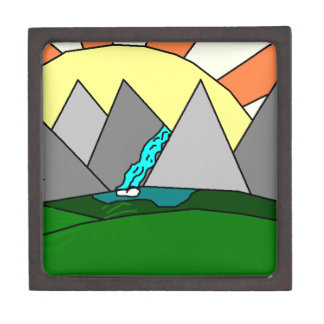 The Mountain Shine Falls Premium Keepsake Box