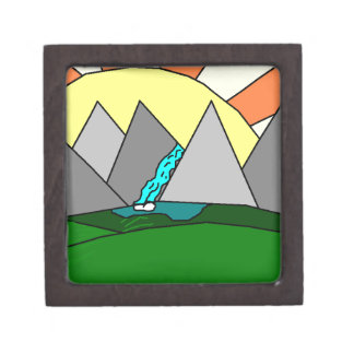 The Mountain Shine Falls Premium Trinket Box