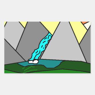 The Mountain Shine Falls Rectangle Sticker