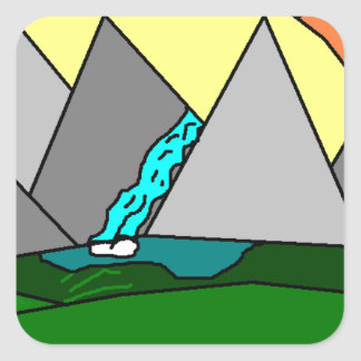 The Mountain Shine Falls Square Sticker