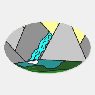 The Mountain Shine Falls Stickers