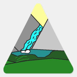 The Mountain Shine Falls Triangle Sticker