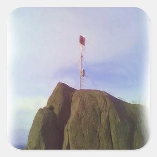 The mountain top square sticker
