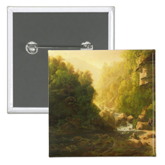 The Mountain Torrent, c.1820-30 (oil on canvas) Button