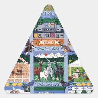 The Mountain Village Quilt Triangle Sticker