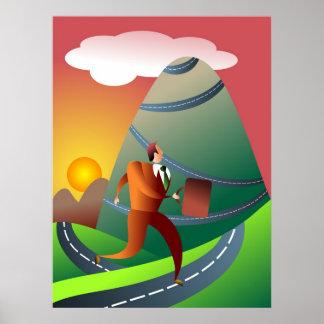 The Mountainous Journey Poster