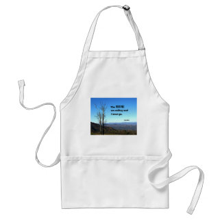 The Mountains are Calling and I Must Go. Adult Apron