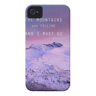 The mountains are calling, and i must go. John Mui Funda Para iPhone 4 De Case-Mate