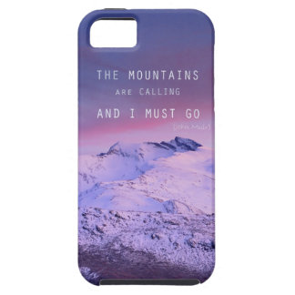The mountains are calling, and i must go. John Mui iPhone 5 Fundas