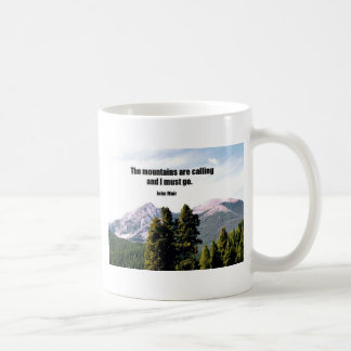 The mountains are calling and I must go. Classic White Coffee Mug