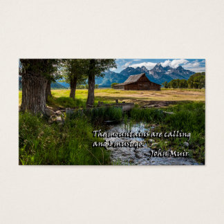 The mountains are calling  and I must go - Muir Business Card