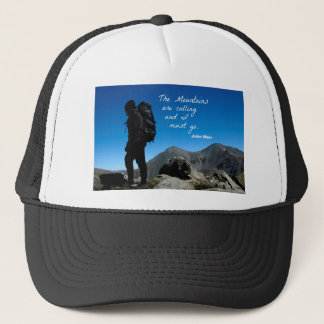 The Mountains are calling and I must go Trucker Hat