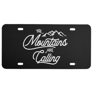 The Mountains Are Calling License Plate