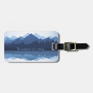The Mountains are Calling Luggage Tags