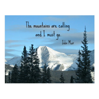 The mountains are calling... postcard